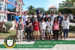 フィリピン留学 New Students 03-30-15s
