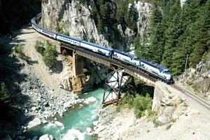 バンクーバー列車の旅