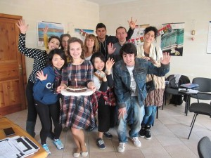 GSE Malta student's birthday party celebration in class