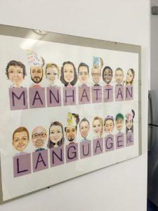 Manhattan Language卒業生が描いたスタッフの似顔絵