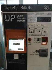 US Expressチケット販売機(空港⇔Union駅)